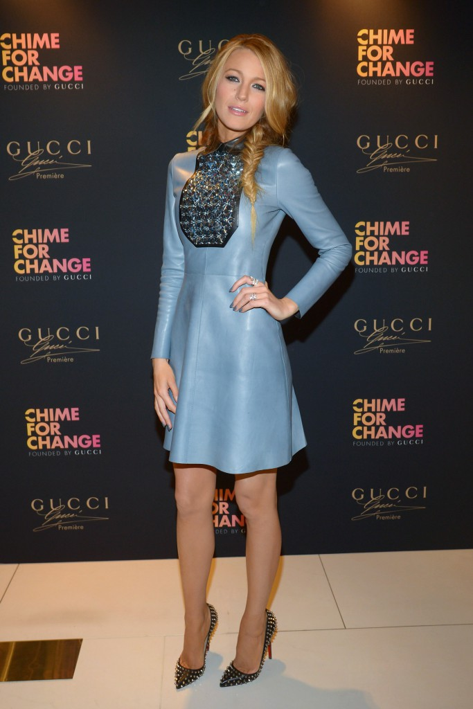 - New York, NY - 05/06/2014 - Gucci Parfums CHIME FOR CHANGE Launch Event with Blake Lively at Macy`s Herald Square. -PICTURED: Blake Lively -PHOTO by: Albert Michael/startraksphoto.com -CS_216015 Editorial - Rights Managed Image - Please contact www.startraksphoto.com for licensing fee Startraks Photo Startraks Photo New York, NY For licensing please call 212-414-9464 or email sales@startraksphoto.com