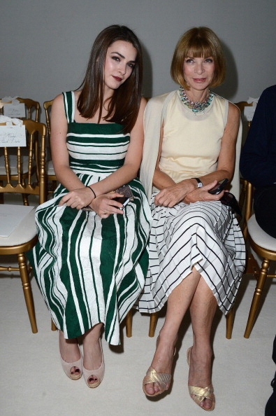 PARIS, FRANCE - JULY 01: Anna Wintour (R) and her daughter Bee Shaffer (L) attend the Giambattista Valli show as part of Paris Fashion Week Haute-Couture Fall/Winter 2013-2014 at Grand Palais on July 1, 2013 in Paris, France. (Photo by Pascal Le Segretain/Getty Images)